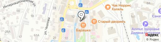 Эконика на карте Кисловодска