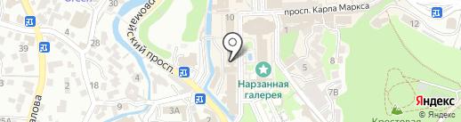 Клинок плюс на карте Кисловодска