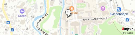 Одевайка на карте Кисловодска
