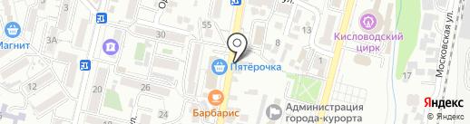 Магазин брюк на карте Кисловодска