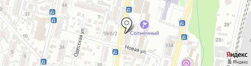 Чистюля на карте Кисловодска