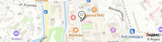 Курортная поликлиника на карте Кисловодска