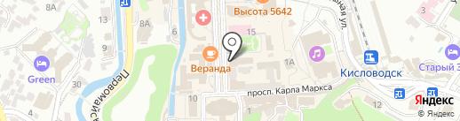 Ральф на карте Кисловодска