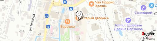 Виктория на карте Кисловодска