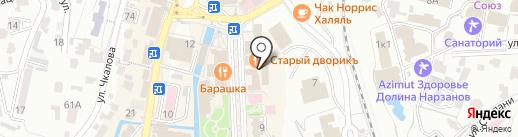 Валин-Текс на карте Кисловодска