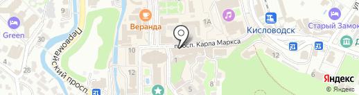 Лана на карте Кисловодска