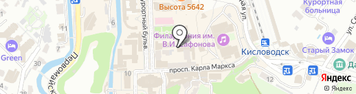 Дэнас центр на карте Кисловодска