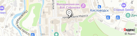 Время на карте Кисловодска