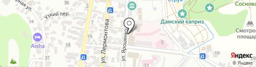 Клиника НИИ курортологии на карте Кисловодска