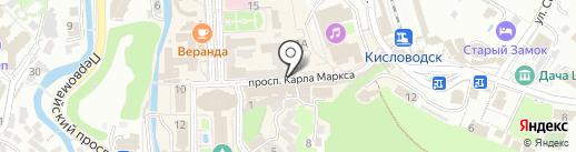 Золотая шубка на карте Кисловодска
