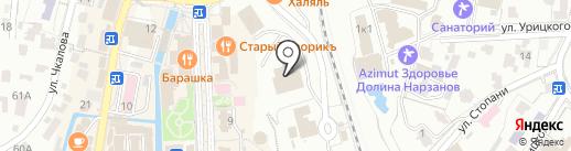 Рада на карте Кисловодска