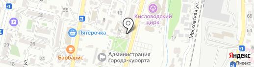 Кисловодский сувенир на карте Кисловодска