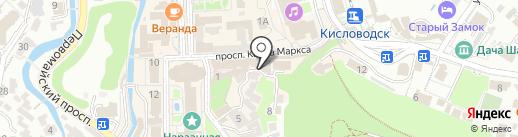 Янтарная комната на карте Кисловодска