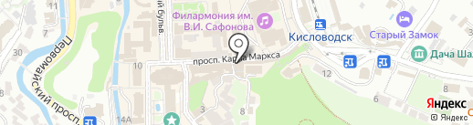 Московские конфеты на карте Кисловодска