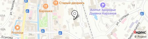 Пацаны на карте Кисловодска