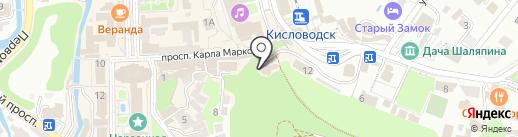 Ивушка на карте Кисловодска