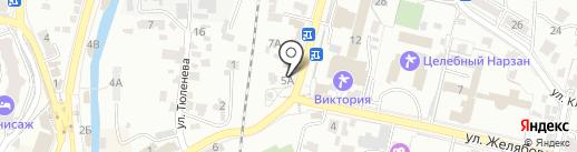 Клен-хлеб на карте Кисловодска