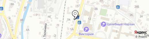 АЮК на карте Кисловодска