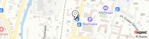 Графиня на карте Кисловодска