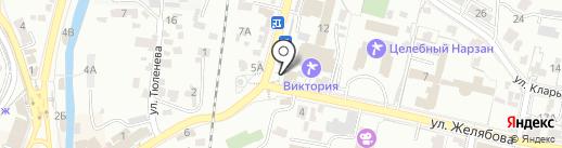 Клен на карте Кисловодска