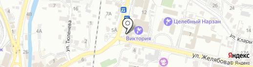 Банкомат, Ставропольпромстройбанк на карте Кисловодска