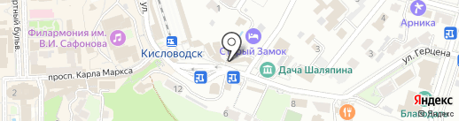 Отдых Дикарем на карте Кисловодска