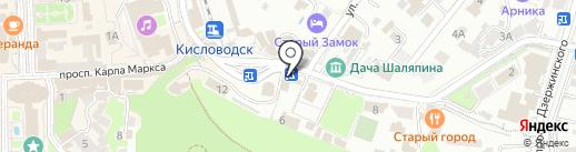 Лариса и С на карте Кисловодска