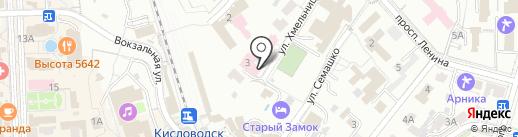 Курортная больница, ФГБУ на карте Кисловодска