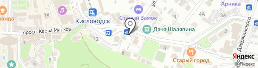 Меховой ларец на карте Кисловодска