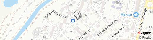 Белла на карте Кисловодска