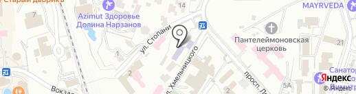 Средняя общеобразовательная школа №1 на карте Кисловодска