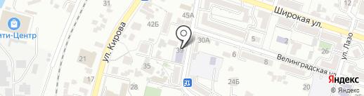 Отражение на карте Кисловодска