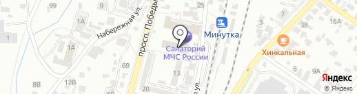 Северо-Кавказский специализированный санаторно-реабилитационный центр МЧС на карте Кисловодска