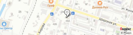 Бешпагир на карте Кисловодска