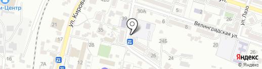 Минеральный на карте Кисловодска