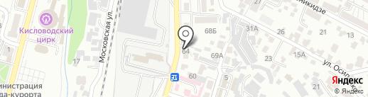 Магазин сантехники на карте Кисловодска