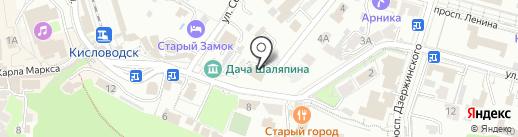 Скала на карте Кисловодска