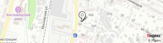 Лека на карте Кисловодска