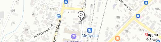 ЛаВаш на карте Кисловодска