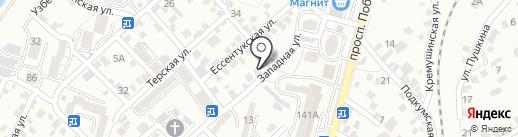 Ателье на карте Кисловодска