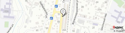 Теплоград на карте Кисловодска