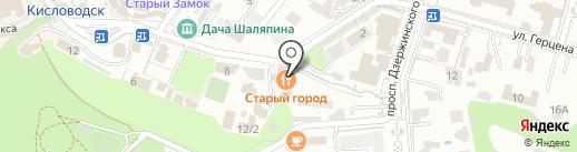 Золотой Дракон на карте Кисловодска
