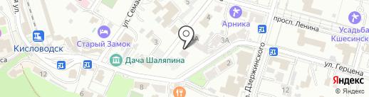 Шаляпинъ на карте Кисловодска