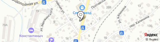 Магазин цветов на карте Кисловодска
