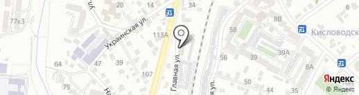 Отдел вневедомственной охраны по г. Кисловодску на карте Кисловодска