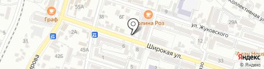 Красные камни на карте Кисловодска