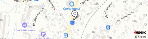 Золотой шампур на карте Кисловодска