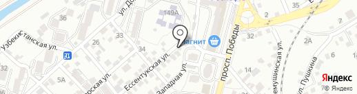 Маленда на карте Кисловодска