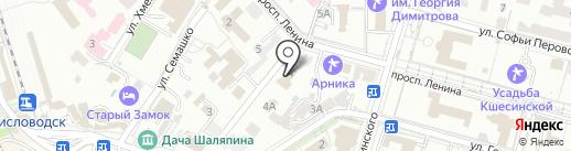 Управление Федеральной Службы РФ по контролю за оборотом наркотиков по Ставропольскому краю на карте Кисловодска