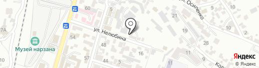 Автомойка на ул.Нелюбина на карте Кисловодска
